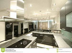 Modern Kitchen In Perspective Stock Images - Image: 14432434
