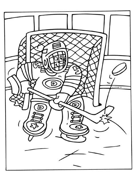 Kleurplaat Ijshockey by Kleurplaat Ijshockey Doelman Keeper Kleurplaten Nl