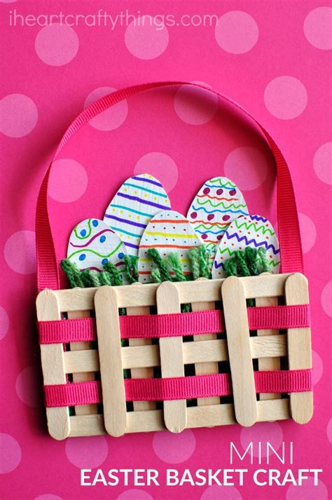 easter baskets arts and crafts ideas craft sticks mini easter basket craft i crafty things 7670