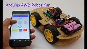 Smartphone Controlled Arduino 4wd Robot Car   Part