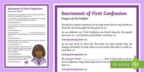 sacrament   confession prayers   faithful