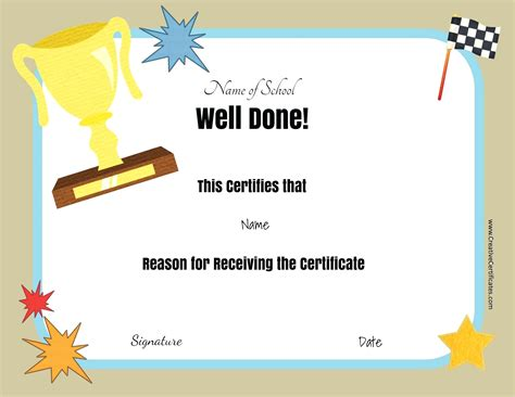 tke award certifricate template template editable award certificate template