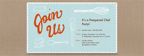 pampered chef invite template