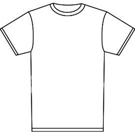 White T Shirt Template Plain White T Shirt Template Clipart Best