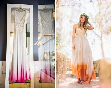 dip dye ombre wedding dresses
