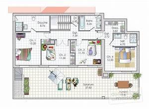 faire un plan de sa maison 4 une maison contemporaine With faire un plan de sa maison