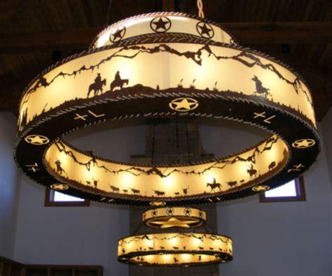 chandelier iron western