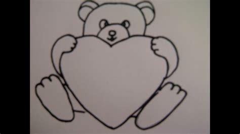 bilder zum nachmalen für kinder teddyb 228 r mit herz zeichnen zeichnen basteln zum muttertag