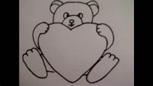 Kaffeetasse Zum Ausmalen : teddyb r mit herz zeichnen zeichnen basteln zum muttertag youtube ~ Orissabook.com Haus und Dekorationen