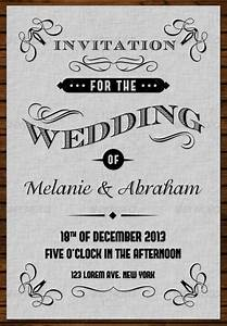 top ten of free vintage style wedding invitation templates With wedding invitation templates illustrator download free