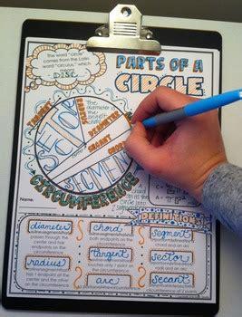 parts   circle doodle notes  math giraffe tpt