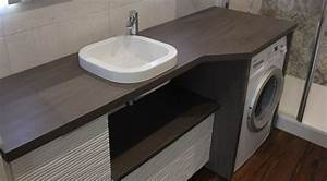 Meuble Panier à Linge : meuble de salle de bain avec lave linge atlantic bain ~ Teatrodelosmanantiales.com Idées de Décoration
