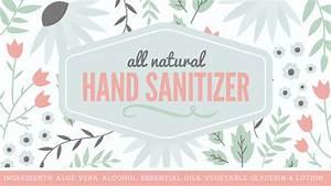 natural hand sanitizer label free printable with full recipe With hand sanitizer printable label