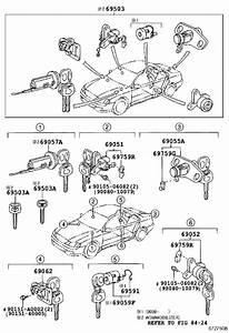 Toyota Avalon Ignition Lock Cylinder  Cylinder And Key Set