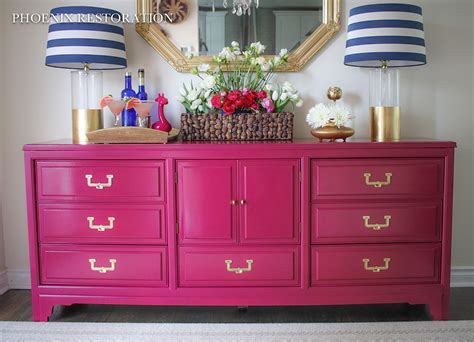 hometalk upcycled repainted credenza
