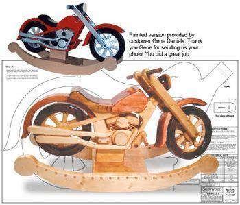 motorcycle rocker plans  video tutorial woodworking plans woodworking  rockers