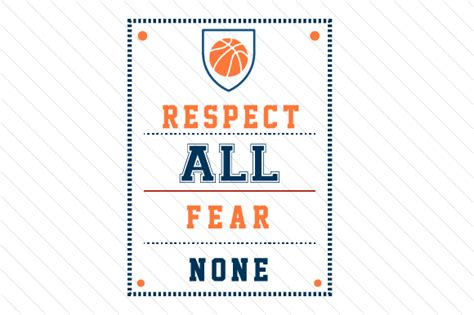 respect  fear  basketball svg cut file  creative
