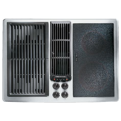 electric cooktop with vent jed8230ads designer line modular electric downdraft