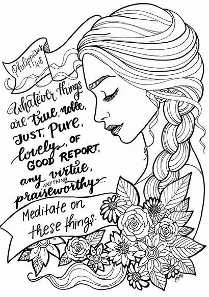 Coloring Pages Bible Verse Devotional Scripture Illustrated
