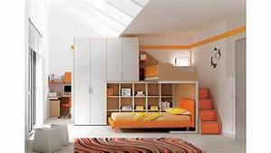 Lit Mezzanine Pour Enfant : chambre enfant lits superpos s en mezzanine moretti compact so nuit ~ Teatrodelosmanantiales.com Idées de Décoration