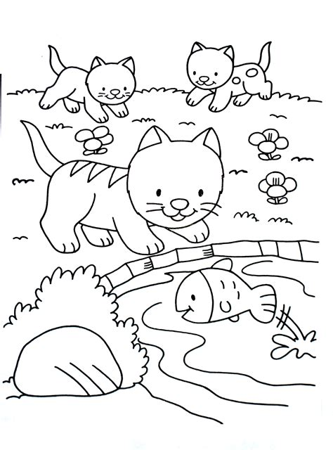 Allows you to set a chat message when no one can hear you. Cute coloring page with kittens - Cats Kids Coloring Pages