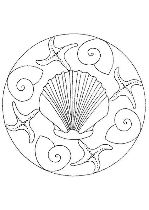 dessins de coloriage coquillage de mer  imprimer