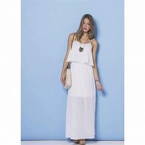 Robe Blanche Longue Boheme : robe longue d 39 ete blanche la mode des robes de france ~ Preciouscoupons.com Idées de Décoration