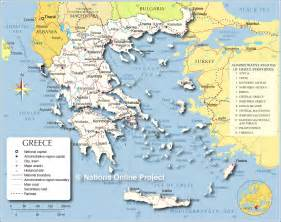 Map of Ancient Greece and Surrounding Countries