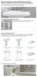 Kohler Memoirs Ceramic Pedestal Combo Bathroom Sink With