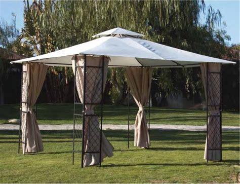 gazebo in metallo gazebo in metallo mod sagres con tenda parasole beige