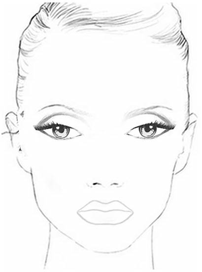 Face Chart Makeup Charts Paper Facecharts Looks