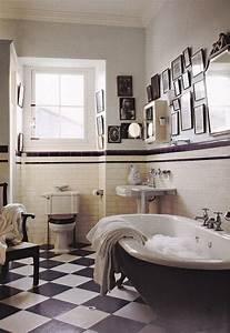Decoration De Salle De Bain : id e d coration salle de bain salle de bain avec carrelage blanc noir salle de bain avec ~ Teatrodelosmanantiales.com Idées de Décoration