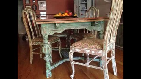 shabby chic dining table makeover creative shabby chic kitchen table decorating ideas youtube