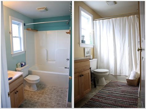 our rental bathroom makeovers before and after