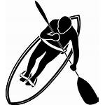 Paddle Wave Clip Clipart Vector Surfer Waveski