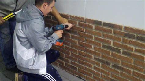 pt dreamwall installing rustic red brick panels vlog
