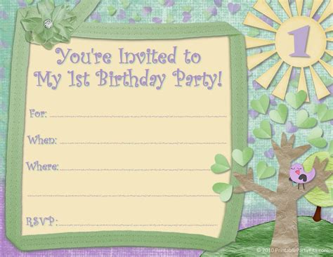 a birthday invitation printable birthday party invitations for kids new party