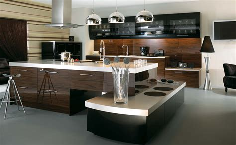 Super Modern Kitchen Concept Featuring Two Section Kitchen