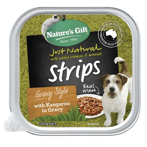 Kangaroo is an exotic protein that has twice the amount of vitamin b12 as other meats. Nature's Gift   Kangaroo in Gravy Wet dog food