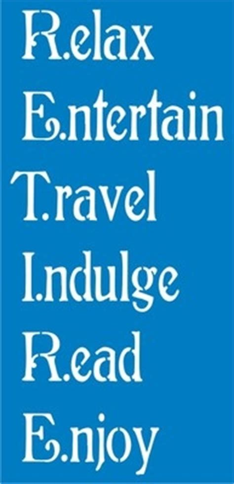 retire relax entertain travel indulge read enjoy