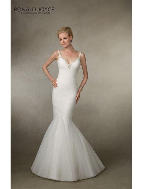 ronald joyce  sexy fishtail bridal dress ivory