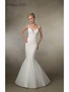 Ronald joyce 18012 sexy fishtail bridal dress ivory for Fishtail wedding dress