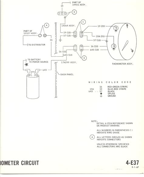 1968 mustang wiring diagrams with tach please help ford mustang