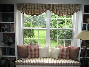 Ace Grey Fabric Over Blinds With Multi Color Window Seat