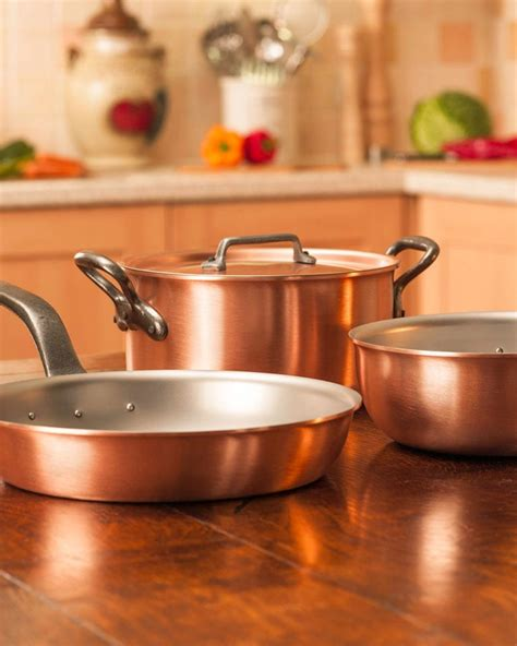 win  falk culinair copper cookware set worth  delicious magazine