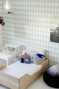 kinderzimmer von kenzie wohnideen einrichten With markise balkon mit ferm living tapete harlequin