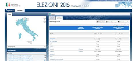 Interno Elezioni Comunali by Amministrative 2016 I Risultati Degli Scrutini In Diretta