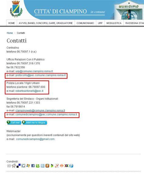 Pec Presidenza Consiglio Dei Ministri by Indirizzo Pec Cittadino Applicazione Per Smartphone