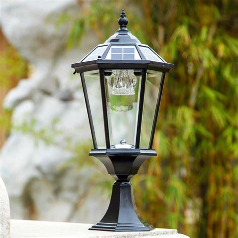 ls plus landscape lighting solar pillar lights outdoor 2w outdoor solar pillar ls