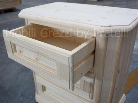 comodini legno grezzo comodini grezzi comodino grezzo in abete massello